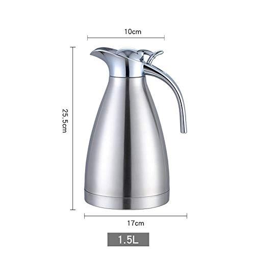 ASDFGH Thermos huishoudelijke thermosfles huishoudelijke roestvrij staal vacuüm thermosfles grote capaciteit 2L slaapzaal thermosfles 1.5L schuren zilver