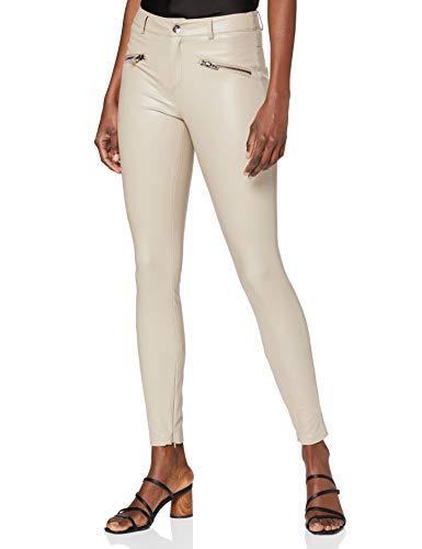 ONLY Damen ONLHENRIETTA Faux Leather Pant OTW Hose, Cobblestone, M