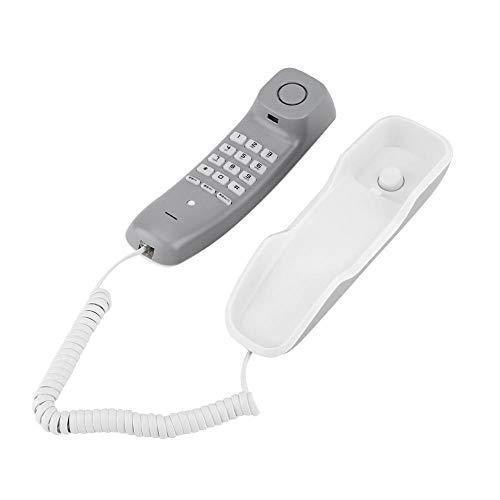 Richer-R Wandtelefon Schnurtelefon, Schnurgebundenes Telefon Wahlwiederholung Kompakttelefon,Noise Cancelling Schnurgebundenes Analog Telefon mit Mute-Funktion für Hause Büro usw.(White)