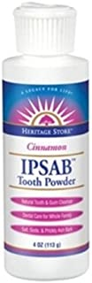 Heritage Products, Ipsab Tooth Powder, Cinnamon, 4 Ounce (Pack of 2)