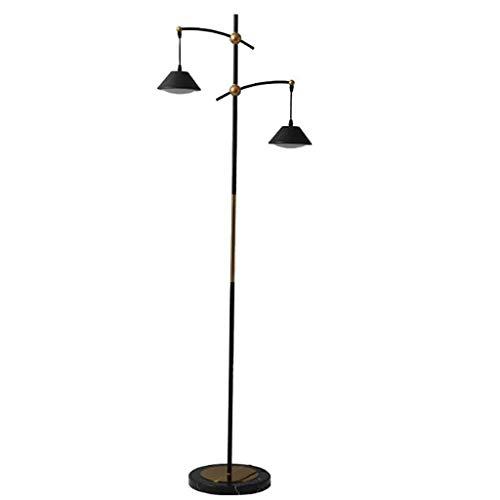 Lámpara de pie creativa Moderna lámpara de pie, lámpara de pie de metal con 2 Cortina de cristal de 63 pulgadas Lámparas de suelo for Dormitorio Oficina Sala de lectura Luz Luz de piso