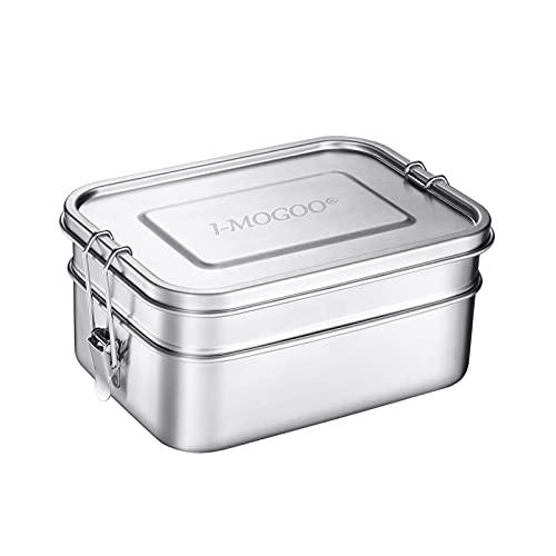 Cajas Bento De Acero Inoxidable De Primera Calidad De 2000 Ml, Sin BPA Y Sin Plástico, Fiambreras Para Hombres, Mujeres, Niños, Niñas, Niños, Almuerzos Para Niños Pequeños