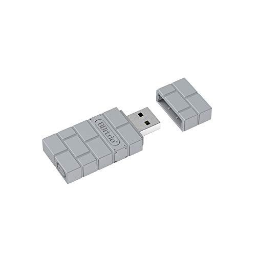 8Bitdo Wireless Bluetooth Adapter for Nintendo Switch, Windows, Mac, & Raspberry Pii (Gray)