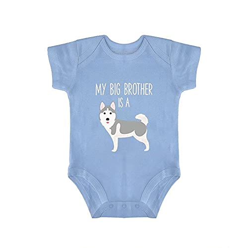 DKISEE Body de bebé siberiano Husky manga corta azul bebé mono 0-3 meses, qlcj6wcfkpts