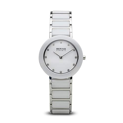 BERING Time | Women's Slim Watch 11429-754 | 29MM Case | Ceramic Collection | Stainless Steel Strap with Ceramic Links | Scratch-Resistant Sapphire Crystal | Minimalistic - Designed in Denmark