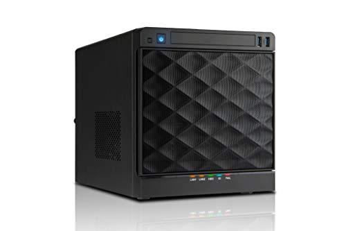 In Win IW-MS04-01 Mini-ITX NAS-Gehäuse mit 4 Hot-Swap-Einschüben (SATA-Diskreter Anschluss), 265 W ATX Netzteil Inklusive