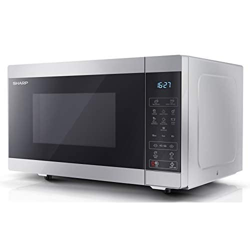 31UigZ8kT3L. SS500  - Sharp YC-MS51U-S 900 W Digital Solo Microwave Oven with 25 Litre Capacity, 11 Power Levels and 8 Cooking Programmes…