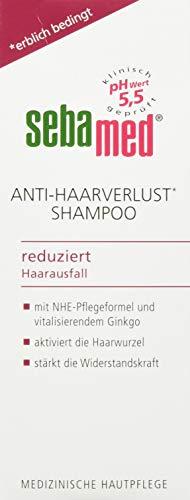 sebamed Anti-Haarverlust Shampoo, 200 ml, mit NHE-Pflegeformel mit Coffein und Ginkgo biloba für kräftiges und gesundes Haar