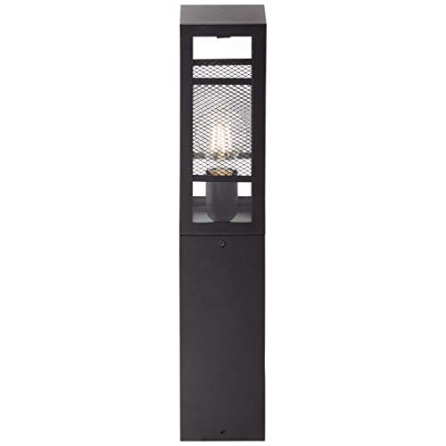 Lámpara de zócalo para exterior (50 cm, 3 bombillas E27, máx. 40 W, metal/plástico), color negro