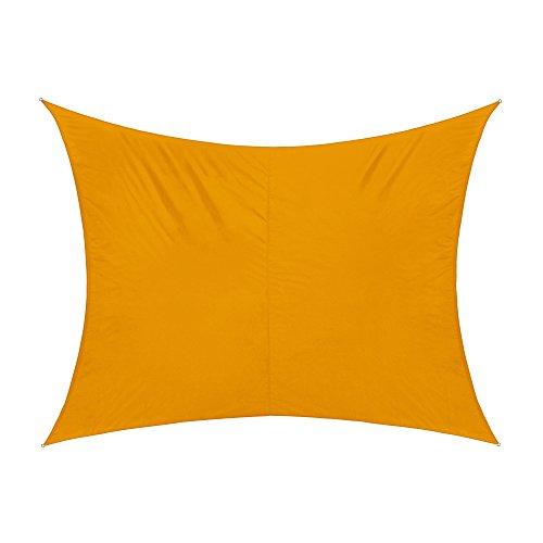 jarolift Sonnensegel Rechteck wasserabweisend, 300 x 200 cm, gelb
