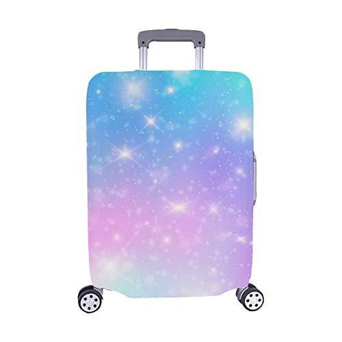 (Solo Cubrir) Galaxy Fantasy Color Pastel Trolley Funda de Viaje Maleta Protectora para Maletas Cubierta Protectora para 28.5 X 20.5 Pulgadas