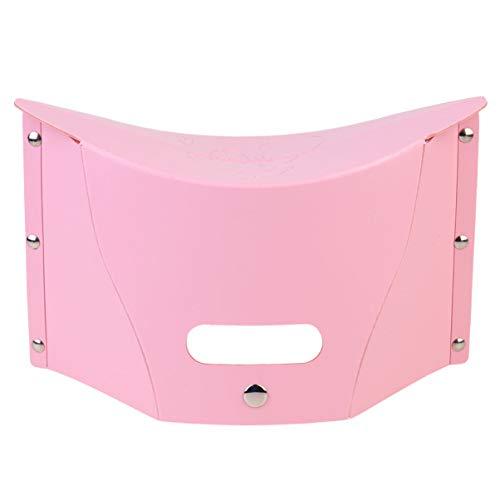 Garneck Tragbarer Hocker im Freien Angeln Klappbarer Kleiner Hocker Moderne Kreative Designmöbel Geeignet für Camping, Reisen, Picknick (Pink)