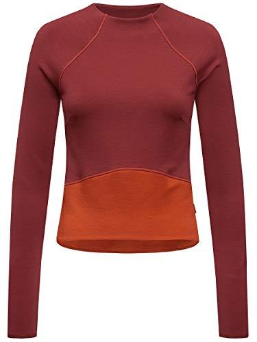 Supernatural Super Crop Sweatshirt Sweat-Shirt Femme, Cabernet/Bossa Nova, FR : S (Taille Fabricant : S)