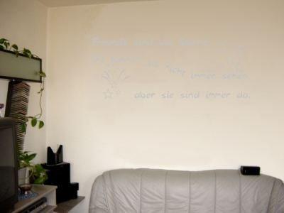 Wandtattoo / Wandaufkleber Zitat Freunde sind wie Sterne, …; Farbe Silber