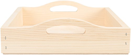 Walnut Hollow 24648 Unfinished Wood Serving Tray for Weddings, Home Decor and Craft Projects, 10' x 12'