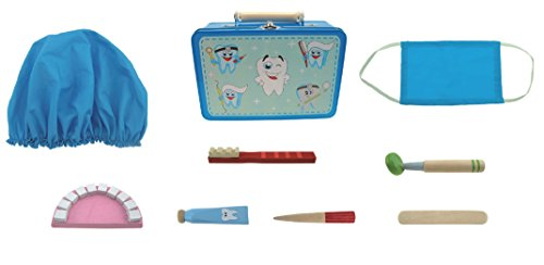 Children's wooden dentist set. Great role play set / idea gift for boys and girls. Alternative to a pretend doctor set. by MaMaMeMo