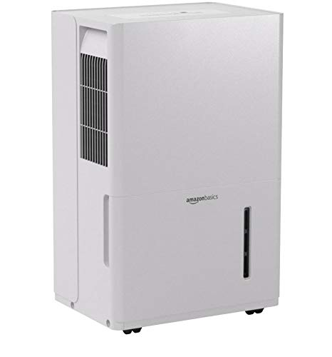 Amazon Basics Dehumidifier with Drain Pump - For Areas Up to 4,000 Square Feet, 50-Pint, Energy Star Certified