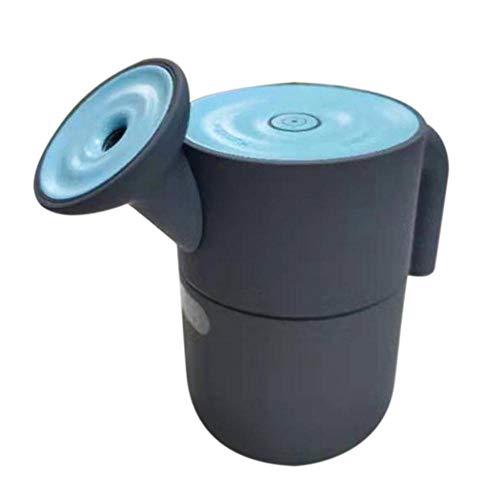 Multifunctionele mini-luchtbevochtiger, draagbaar, met led-lampjes, voor kantoor, auto, reis, camper, slaapkamer, 200 ml, met automatische uitschakeling.