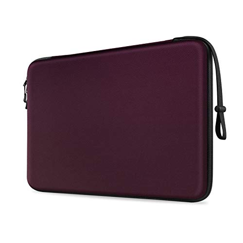FINTIE 13-inch Hard Shell Laptop Sleeve Case for 13.3' MacBook Air A2337 M1 A2179 A1932, MacBook Pro 13 A2338 A2251 A2289 A2159 A1989 A1706 A1708, Shockproof Carrying Cover Protective Bag, Burgundy