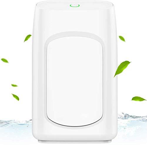 ZINE Deshumidificador pequeño, 700 ml deshumidificador compacto para 215 pies cuadrados, portátil y compacto ultra silencioso para RV, dormitorio, hogar, baño, sótano, armario