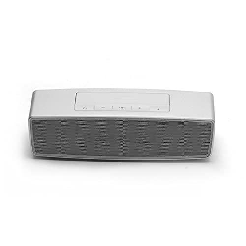 CHYSP Drahtloser Bluetooth-Lautsprecher Subwoofer hohe Klangqualität zu Hause kleine tragbare Outdoor-Computer Auto schweren Bass (Color : White)