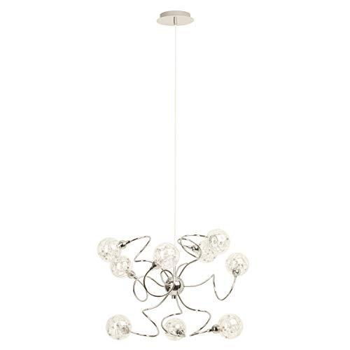 Lampada BRILLIANT Lampada a sospensione Joya 9flg cromata |9x QT14, G9, 33W, adatto per lampade con piedini base (non inclusi) |Scala da A ++ a E |Regolabile in altezza/cavo può essere accorciato