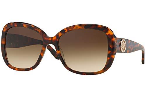 Versace Unisex VE4278B Sonnenbrille, Braun (Havana 511613), One size (Herstellergröße: 57)