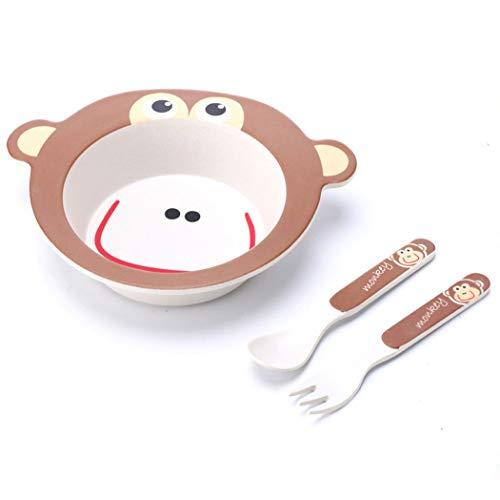 ZT Set vajilla Infantil de bambú sin BPA, 3 Piezas, Servicio de...