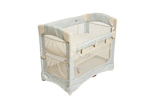 Review Arm's Reach Concepts Mini Ezee 2-in-1 Bedside Bassinet - Turquoise Geo