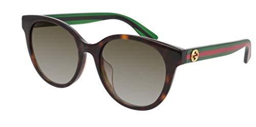 Gucci Gafas de Sol GG0702SK HAVANA/BROWN SHADED 54/19/145 mujer