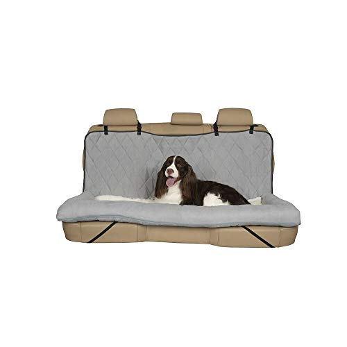 PetSafe Happy Ride Car Dog Bed - Best for Bench Seats - Fits Cars, Trucks, Minivans and SUVs - Comfortable and Machine Washable - Durable Vehicle Pet Bed - Grey