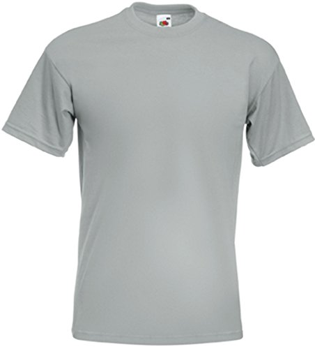 Fruit of the LoomHerren T-Shirt Grau Zinc