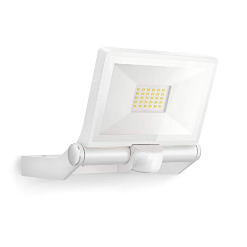 Steinel LED-Außenstrahler XLED ONE Sensor Weiß, 180°-Bewegungsmelder, 23,5 W, 2550 lm bei 3000K, Aluminium, für Zufahrt, Hof und Garten, 65256