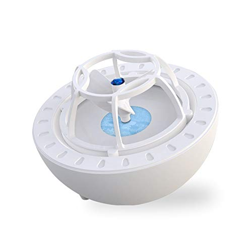 Porcyco - Mini lavavajillas ultrasónico portátil con USB, limpiador de platos de alta presión para frutas y verduras (azul)