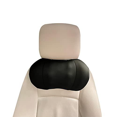 Poggiatesta Auto Cuscino, Poggiatesta Auto Bambini Supporto per la Testa Laterale in Pelle per Seggiolino Adulti Supporti Collo Appoggiatesta Traspirante Regolabile, Cuscini da Viaggio Supporto