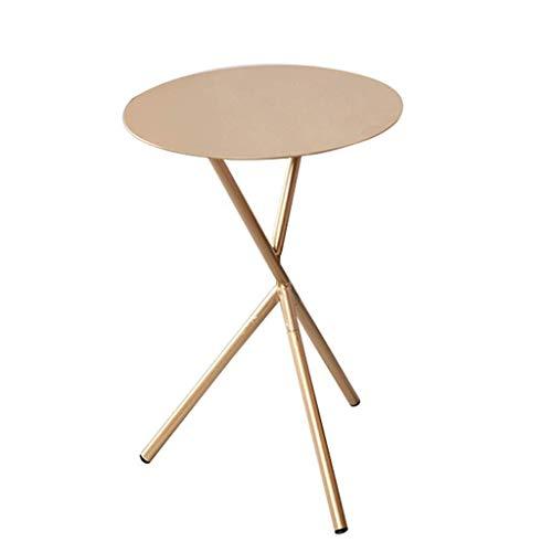 Escritorio de oficina en casa Mesa nórdico hierro forjado mesa de café salón comedor sofá mesa de mesa de la esquina de mesa de café vector vectores triángulo Nest redondos (Color: Blanco) escritorio