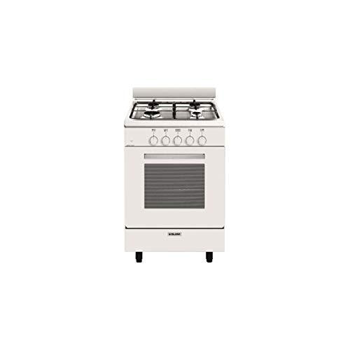 Glem GA551GWH - Cocina (Cocina independiente, Blanco, Giratorio, Frente, Encimera de gas,...