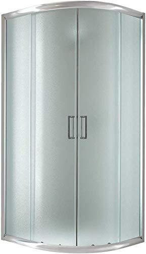 Cabina de ducha semicircular 90 x 90 x 198 cm, cristal estampado de 6 mm