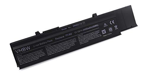 vhbw Akku passend für Dell Vostro 3400, 3500, 3700 Laptop Notebook (Li-Ion, 4400mAh, 11.1V, 48.84Wh, schwarz)