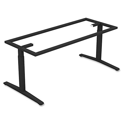 Lorell Rectangular Conference T-Leg Table Base, Black,Powder Coated