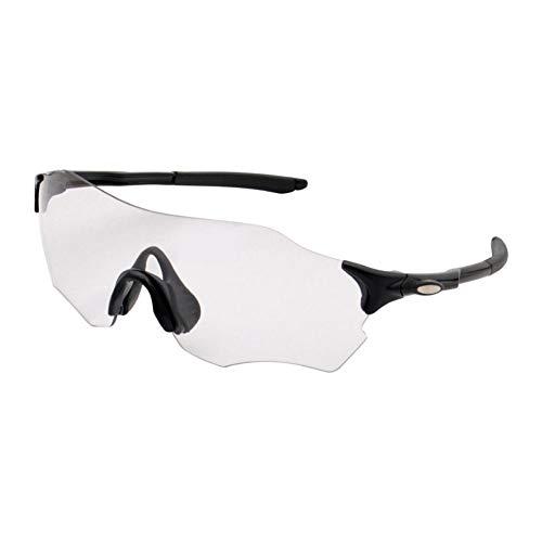 SAHWIN Ciclismo Gafas, Polarizadas Intercambiables UV 400 Gafas,Corriendo,Moto MTB Bicicleta Montaña,Camping Y Actividades Al Aire Libre para Hombres Y Mujeres,Negro
