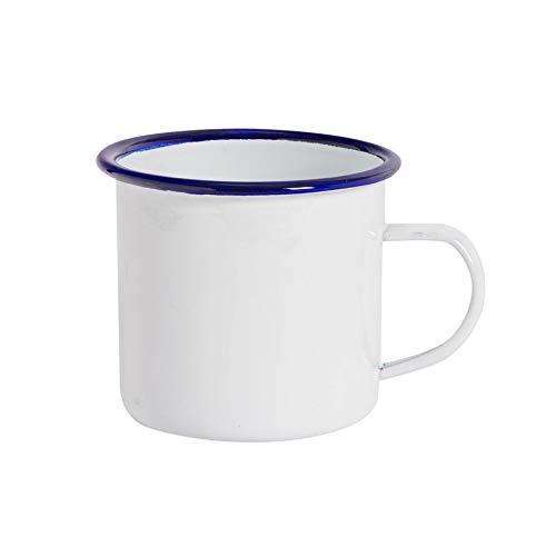 Argon Tableware Taza para el café o té - Esmalte Blanco Tradicional...