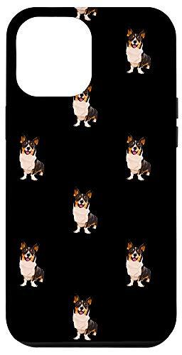 iPhone 12 Pro Max Black Cardigan Welsh Corgi Pattern Dog Case