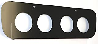 American Car Craft 052052 Black Exhaust Filler Plate (Powder Coated Stock System)