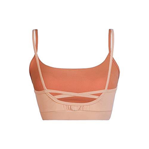 N-B Ropa de yoga de las mujeres con almohadilla de pecho sujetador deportivo correr fitness top Sling belleza espalda hueco ropa interior mujeres