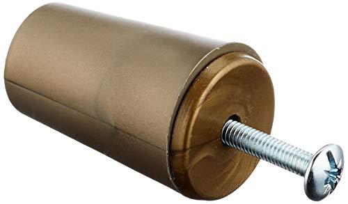 Sysfix Tope para persiana TP 35 Bronce (Caja de 12 Unidades con Tornillo y arandela), 3.5x2.4x2.4 cm