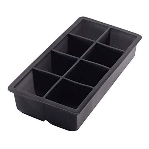 1 pieza Black Grade silicona 8 Big Cube gigante Jumbo grandes cubitos de hielo de silicona cuadrada, forma cuadrada y duradera