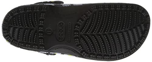 Crocs Zuecos de Madera Unisex Classic Graphic, Black Daisy, 36/37 EU