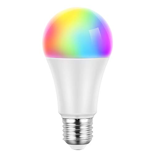 Wifi Lampe, TOPELEK Smart Home Wifi Birne E27 LED Lampe Dimmbare alexa Glühbirne, WLAN steuerbar via App, kompatibel mit Alexa/Google Home, Fernbedienung von IOS & Android 16 Millionen Farben