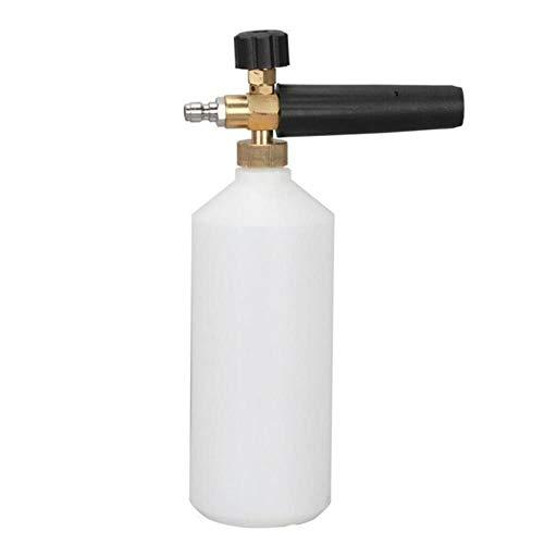 1L Pistola de agua de alta presión Lavadora de espuma de nieve Botella de lanza de chorro Pistola de pulverización de lavado de autos ajustable Herramientas de lavado de autos Accesorios para autos, Naranja, China